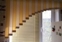 Вертикальные и горизонтальные жалюзи на кухне